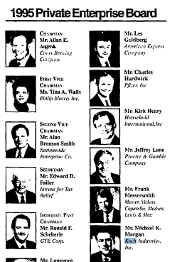 ALEC's Corporate Board in 1995
