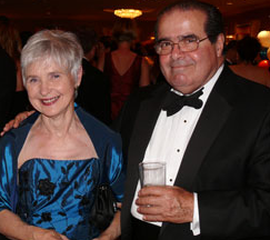 Justice Antonin Scalia and his wife, Maureen
