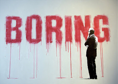 Boring in red paint