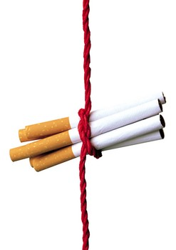 Cigarettes tied together with string
