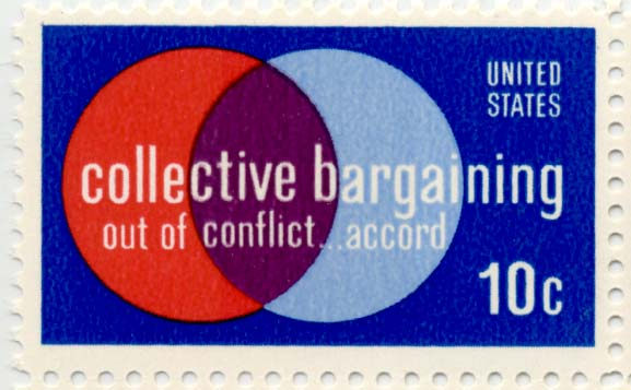 Collective bargaining postage stamp