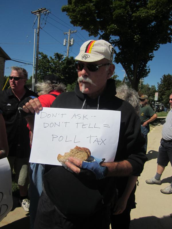 Don't Ask -- Don't Tell = Poll Tax