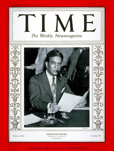 Ferdinand Pecora (Time Magazine, June 12, 1933)