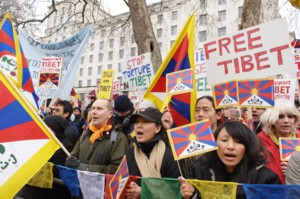 Free Tibet protest in London