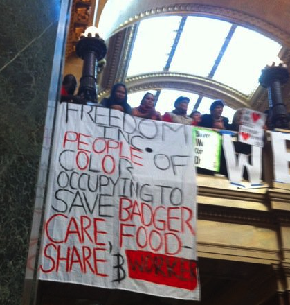 Photo from the Wisconsin Capitol of Freedom Inc
