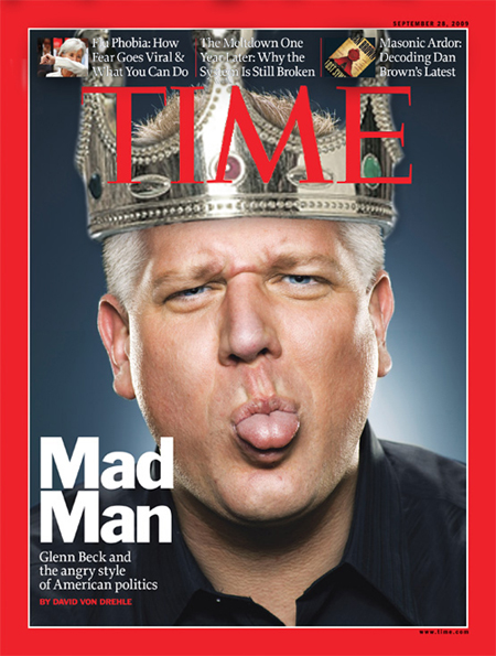 Glenn Beck, cover of Time Magazine, September 2009