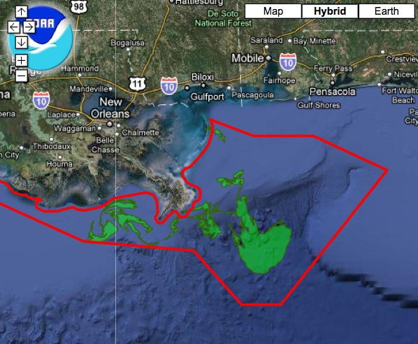 Gulf Spill Fishing closure
