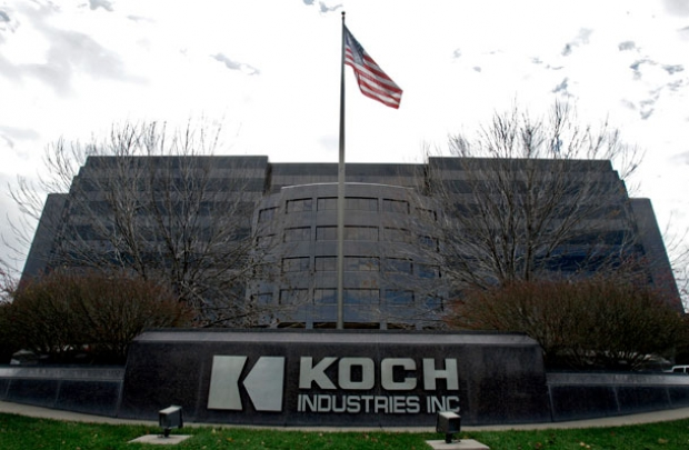 Koch Inc., headquartered in Wichita, Kan., spends tens of millions of dollars to lobby Congress and federal agencies on issues ranging from oil and gas to the estate tax. Courtesy of Larry W. Smith/Associated Press.