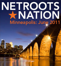 Netroots Nation speakerbadge