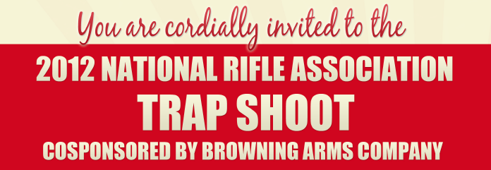 Invitation to the NRA's annual Trap Shoot at the ALEC convention