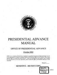 Presidential Advance Manual
