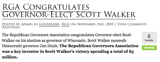 Screen Shot of RGAs 5 million Investment in Walker