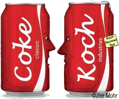 What is Coke doing with Koch? (Image Credit: Joe Mohr)