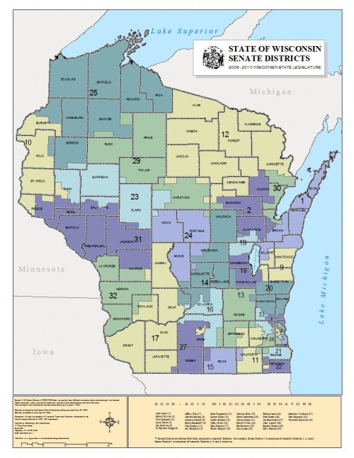 Wisconsin Senate Districts