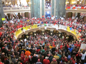 Wisconsin State Capitol Protest March 12, 2011